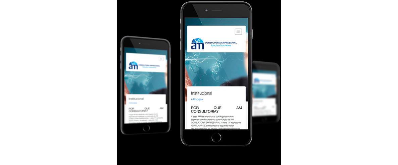 Layout da AM - Consultoria Empresarial no celular